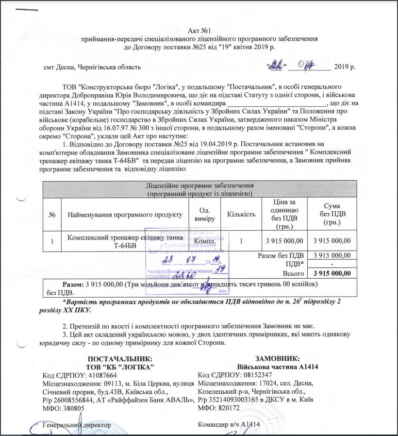 КБ Логіка поставила ЗСУ тренажер танка Т-64