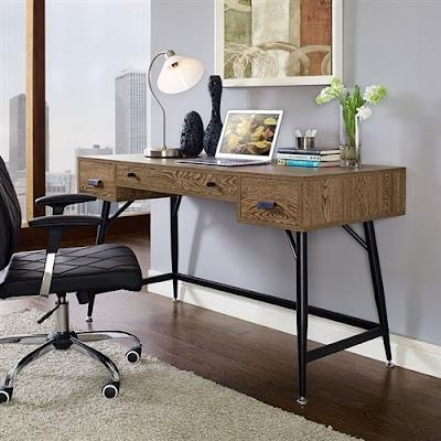 retro home office desk