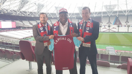 West Ham announces historic partnership deal with Capital Oil and Gas, FC Ifeanyi Ubah