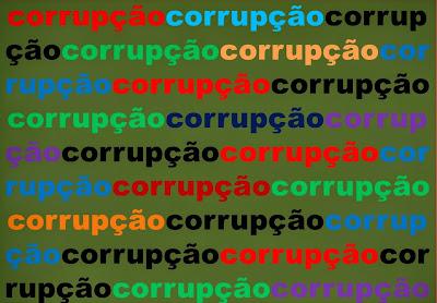 A imagem diz:corrupção,corrupção e corrupção uma realidade ruim e rotineira no Brasil que parece não ter fim.A corrupção é uma espécie de maldição generalizada e presente na história da sociedade humana.