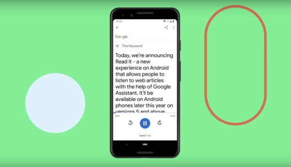 Google Assistant supports general reading of websites in 42 languages