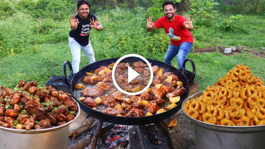 Greek Lemon Chicken with Potatoes | Crispy Fried Squid Recipe | Grandpa Kitchen