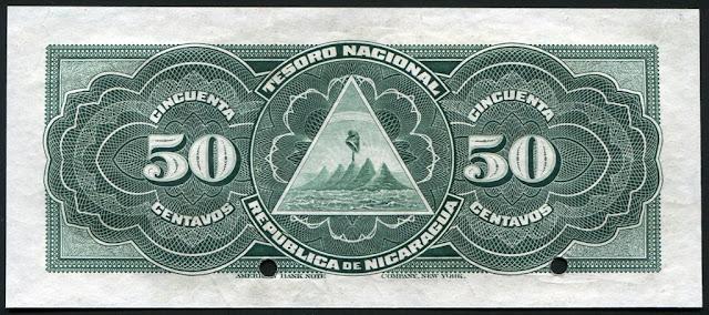 Nicaragua 50 Centavos Banknote