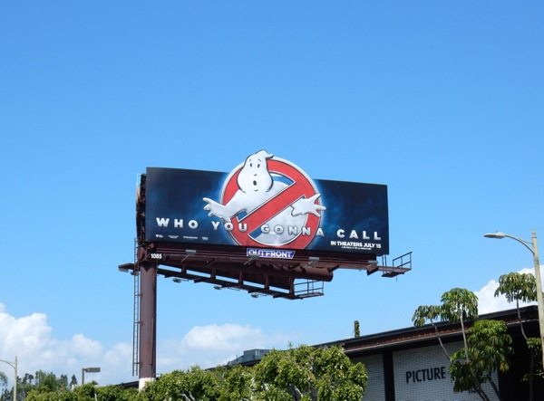 Ghostbusters Who you gonna call billboard