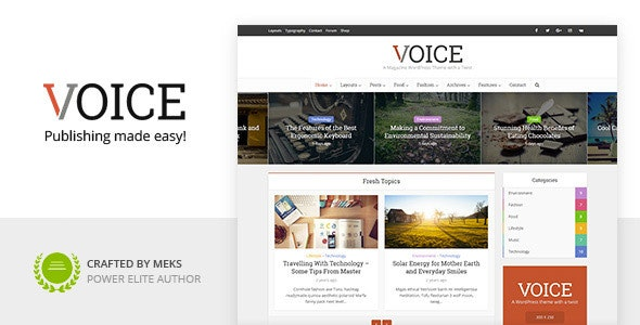 Voice - Clean News/Magazine WordPress Theme 2.9.2