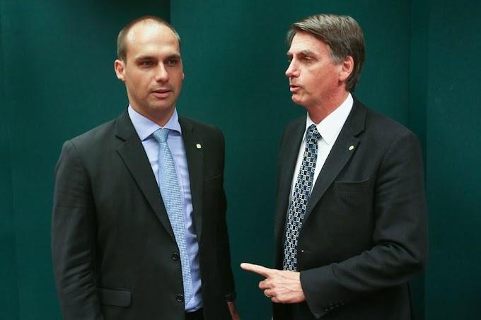 """Bolsonaro lamenta fala de Eduardo sobre AI-5 e diz que filho """"está sonhando"""""""