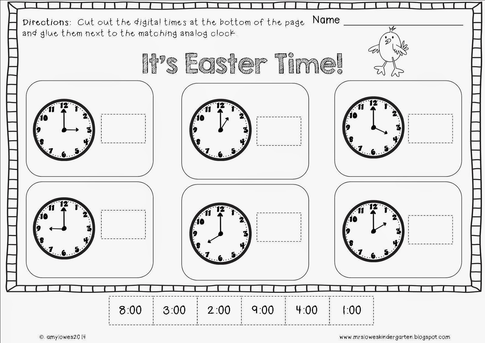 Mrs. Lowes' Kindergarten Korner: No Prep Easter Math and