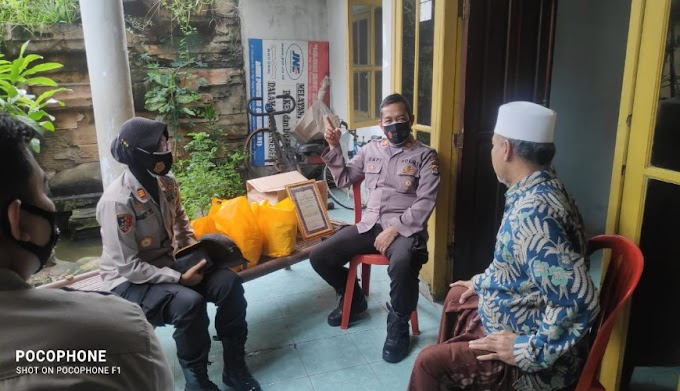 Laksanakan Program ke-6 Commander Wish Kapolda Banten, Jajaran Polres Serang Sowan Sesepuh di Kecamatan Pontang