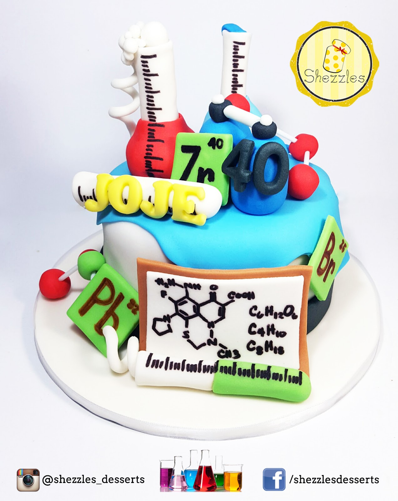 Shezzles dessert in a jar the chemists cake the chemists cake matter atoms periodic table gamestrikefo Choice Image