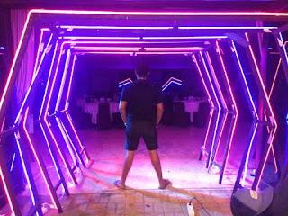 dekorasi panggung lighting acara gathering sentul puncak bogor