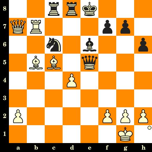 Les Blancs jouent et matent en 3 coups - Joseph Blackburne vs Adolf Schwarz, Vienne, 1873