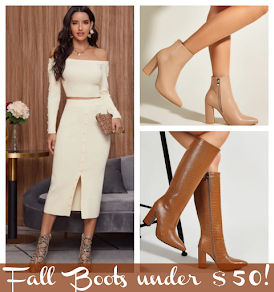 Strut stylishly through the fall season in chic, comfortable boots for under $50!