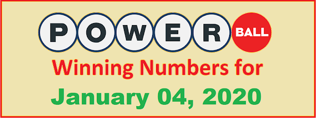 PowerBall Winning Numbers for Saturday, January 04, 2020