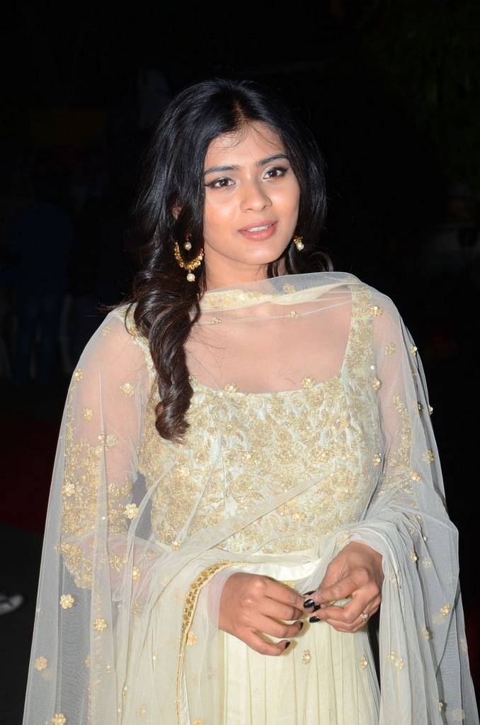 Actress Hebah Patel Stills In Green Dress At Audio Launch