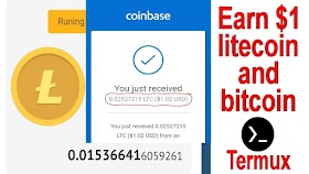 Earn $1 litecoin and bitcoin on this site and termux program