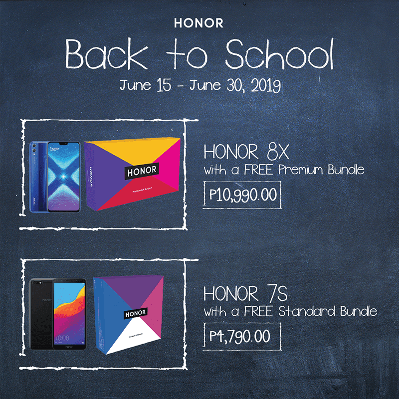 Back to school deals on Honor 7S and 8X