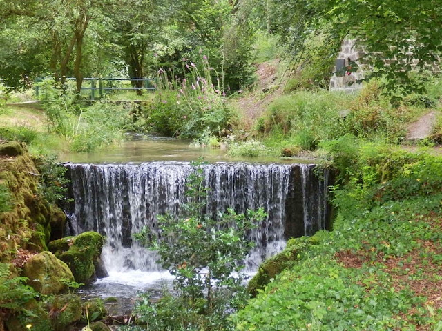 The waterfall near the chapel at Menacuddle, Cornwall