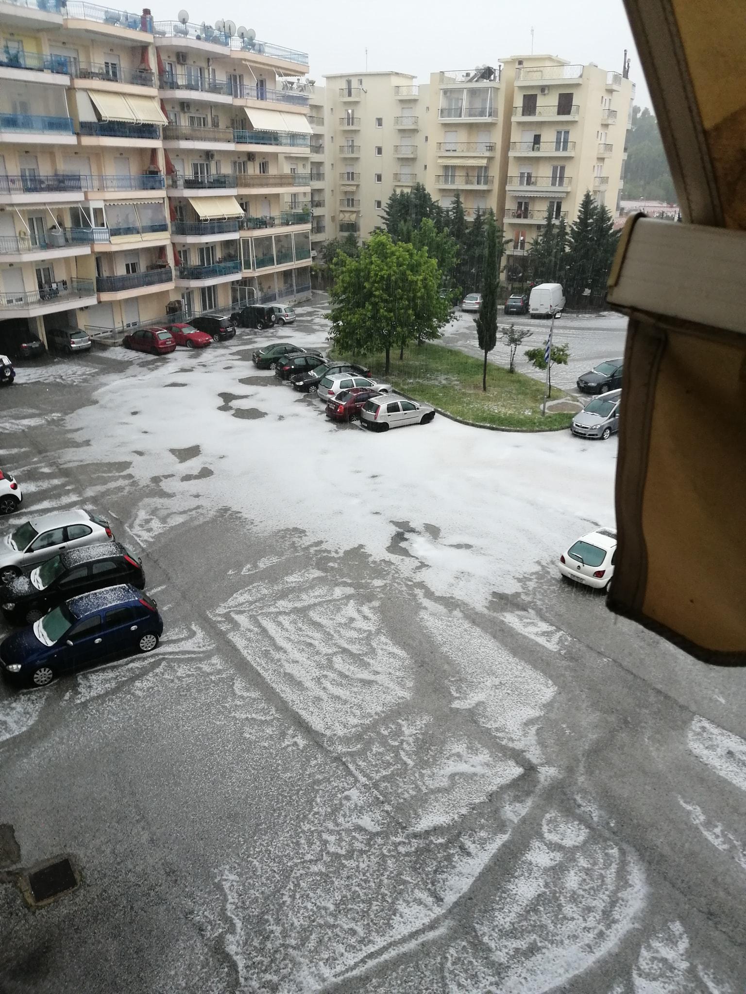 Βούλιαξαν δρόμοι στην Ξάνθη – Ισχυρή καταιγίδα και χαλάζι [ΒΙΝΤΕΟ]