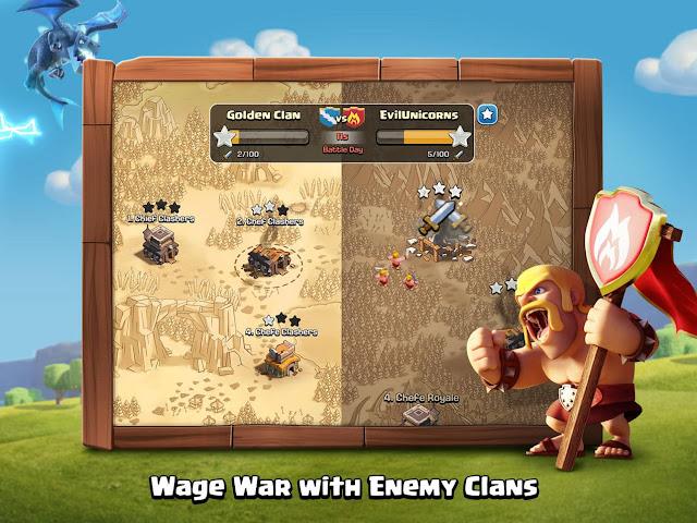 تحميل لعبة clash of clans مهكرة للاندرويد بدون روت