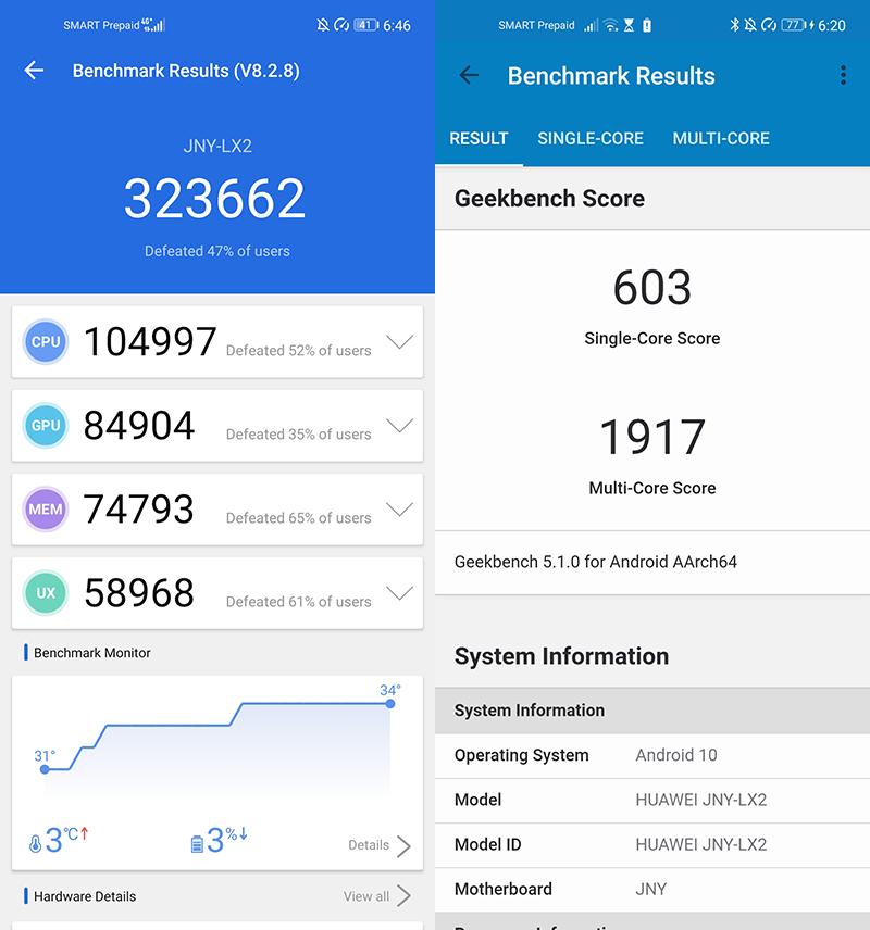 Huawei Nova 7i benchmarks