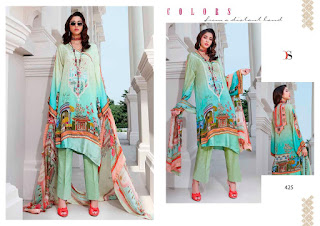 Deepsy Elan 10 Satina Silk Pakistani Suits Collection in Wholesale Rate