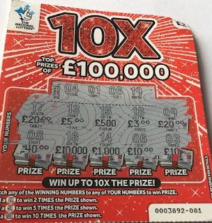 £2 10X Scratchcard £10 Winner