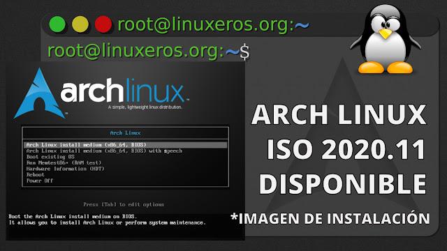 Arch Linux, ISO 2020.11 ahora con Linux Kernel 5.9