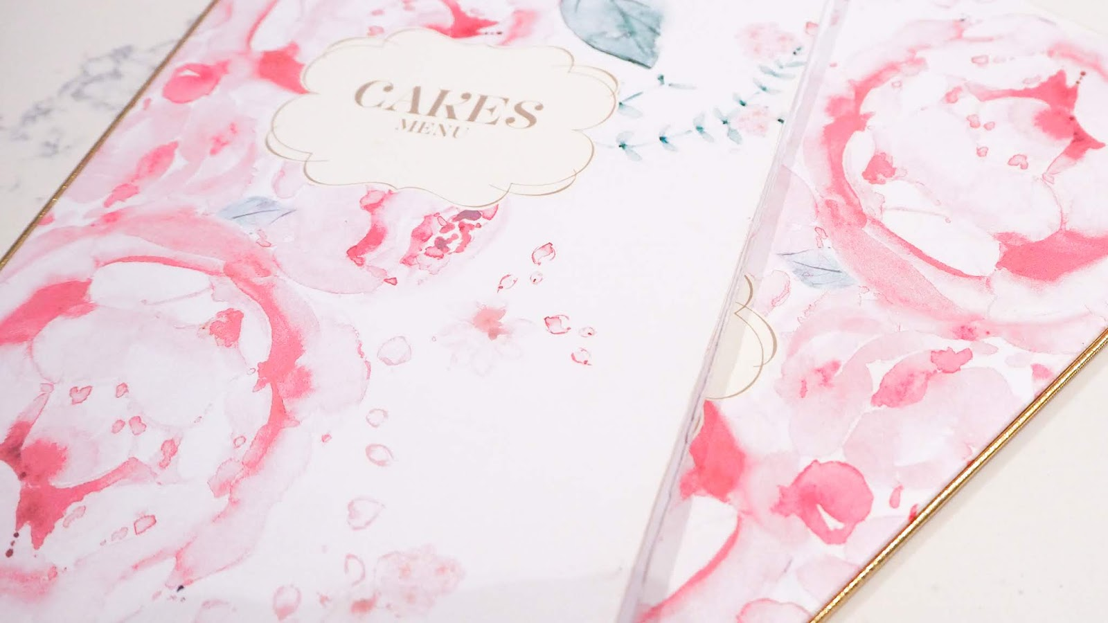 Cakes menus