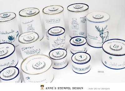 Upcycling von Konservendosen für einen Adventskalender