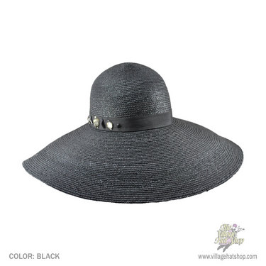 Stay classy and protected from the sun in the Sofia hat from Callanan. With  a 6   brim and a jeweled hat band 8af6e55d495