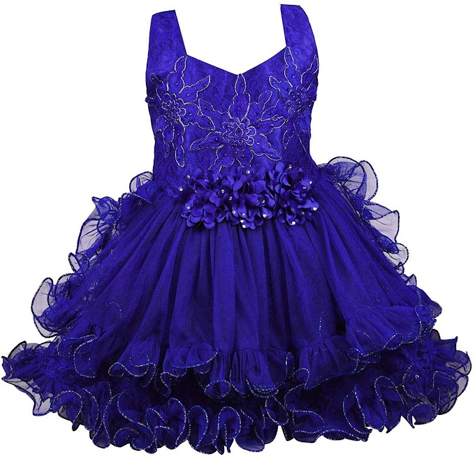 Wish Karo Girls Frock Dress - Net - (fre149cnw)