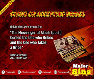 MAJOR SIN. 32. GIVING OR ACCEPTING BRIBES