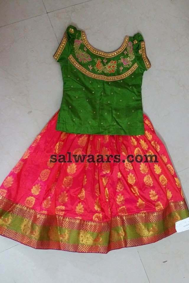 Traditional Silk Lehenga Blouse