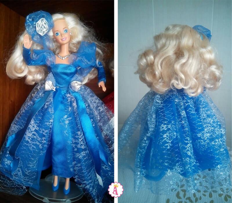 Барби в синем платье 1992 года