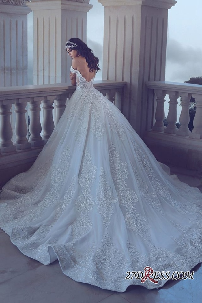 https://www.27dress.com/p/chic-lace-off-the-shoulder-long-train-wedding-dress-107070.html