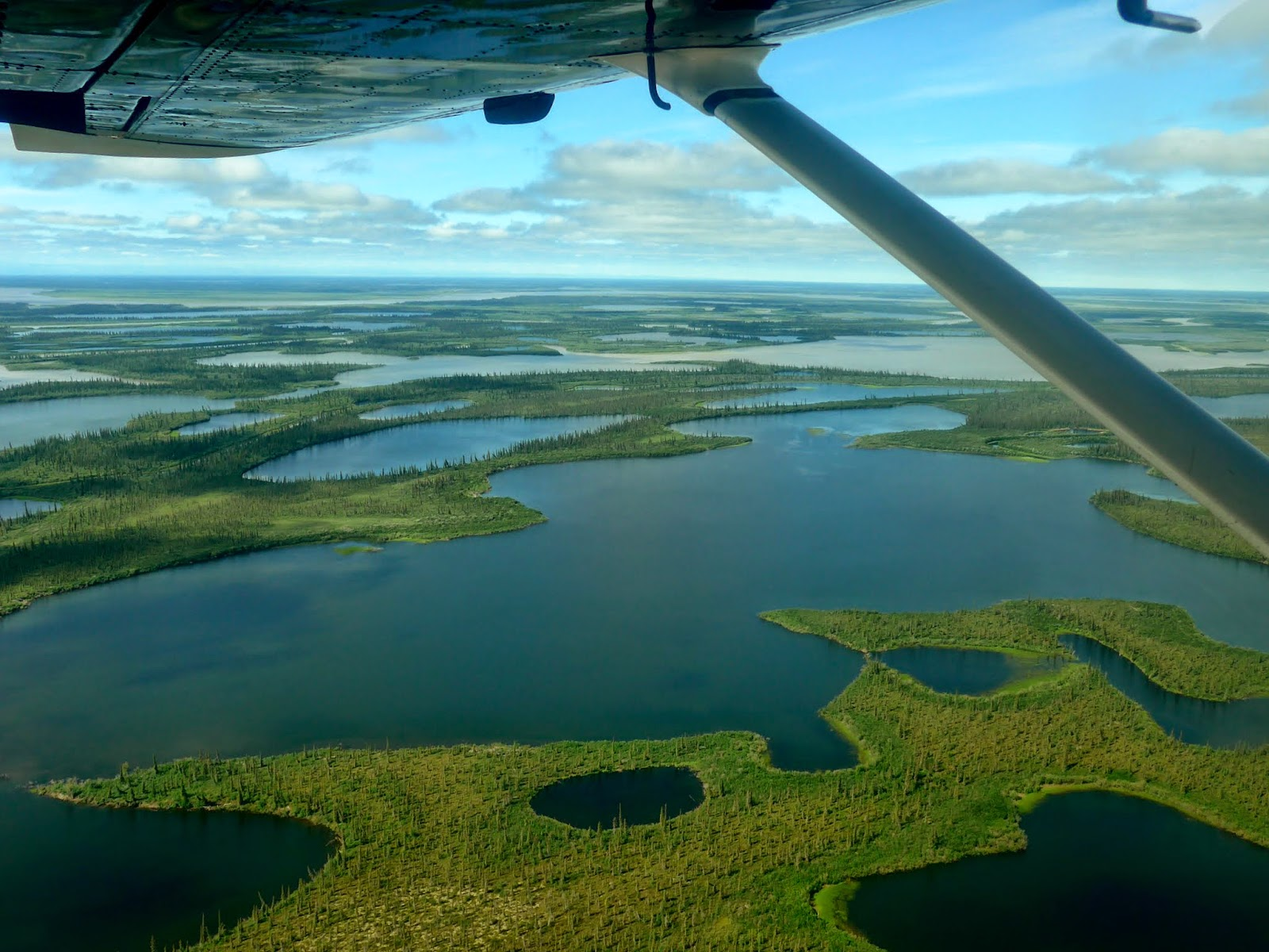 The mighty Mackenzie Delta from the air.