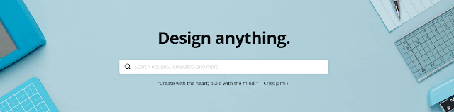design anything using Canva