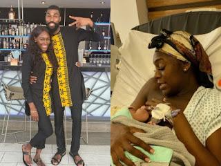 Mike Edwards And Wife Unveil Their Newborn Son, Matthew Olaoluwa Edwards (WATCH VIDEO)