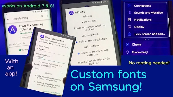 Fonts for Samsung (AFonts)