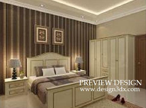 Jasa Design Online Desain Interior Rumah Tinggal Kamar Tidur Utama