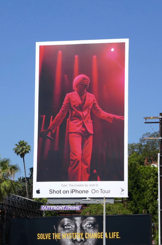 Tyler Creator Shot iPhone On Tour billboard