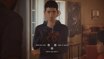 Sean can make choices which affects game story