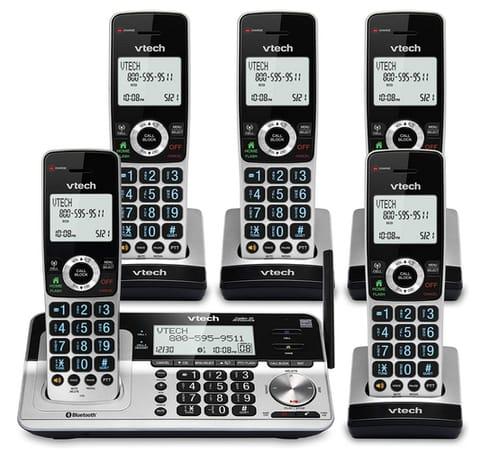 VTech VS113-5 Extended Range 5 Handset Cordless Phone