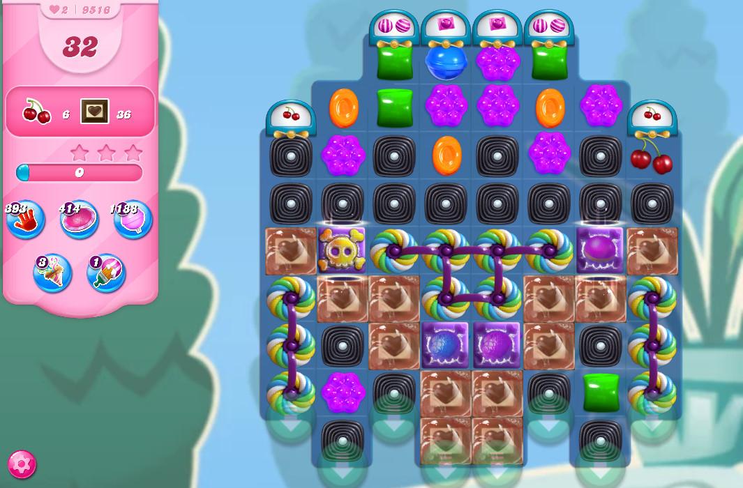 Candy Crush Saga level 9516