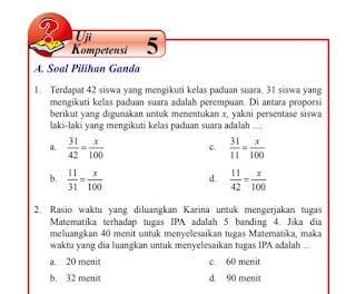 Uji Kompetensi 5 Matematika Kelas 7 Semester 2