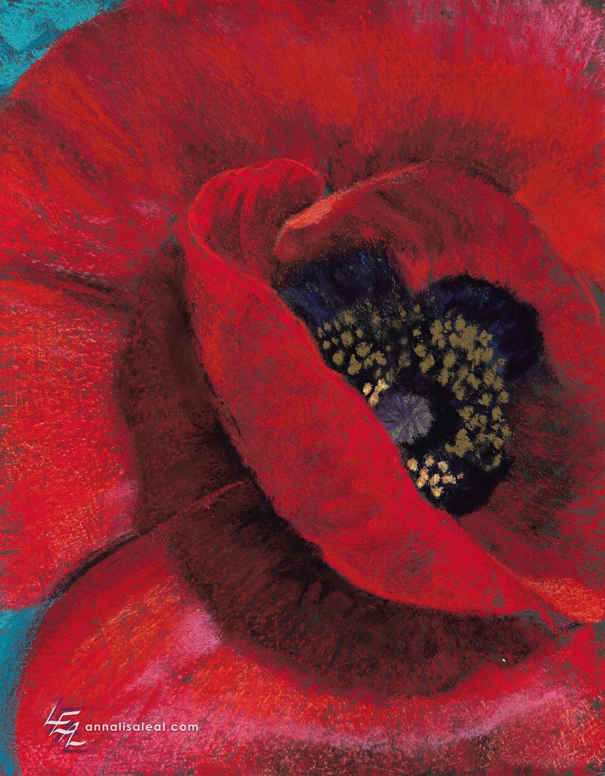 Art in Progress: Rubicund Poppy