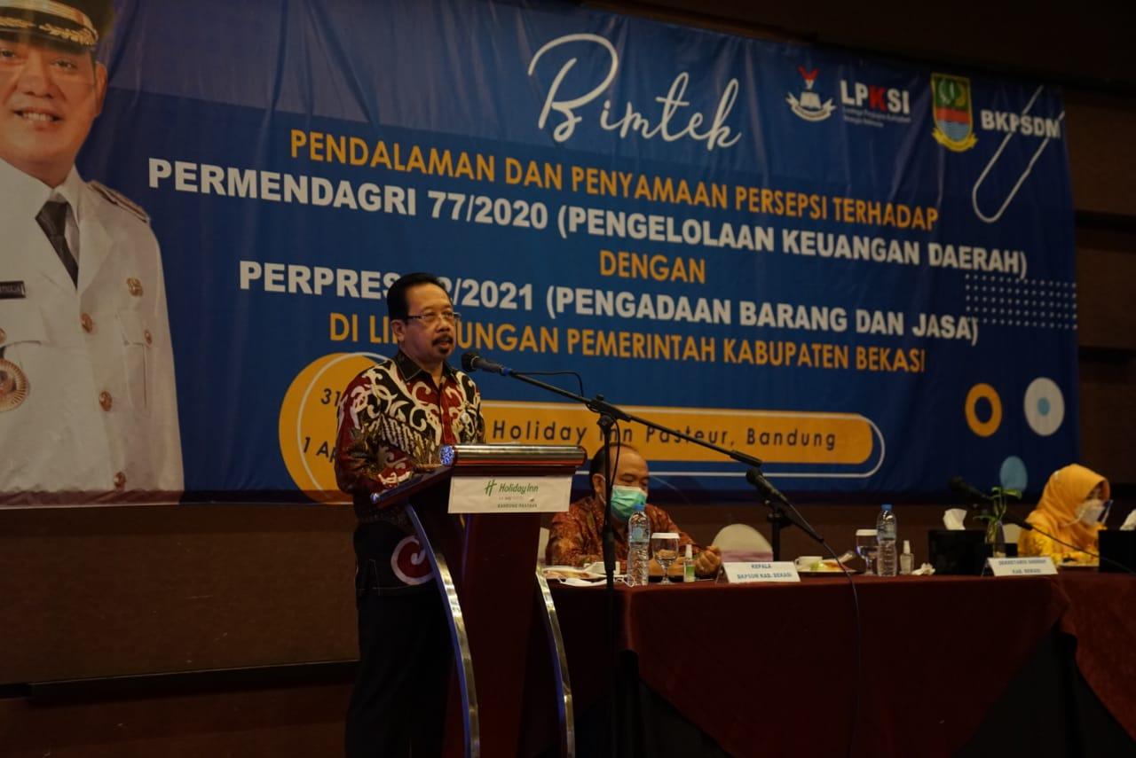 Pemkab Bekasi Gelar Bimtek Pengelolaan Keuangan Daerah