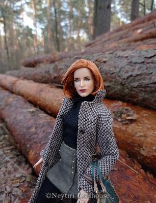 Mattel Barbie doll Dana Scully X Files autumn