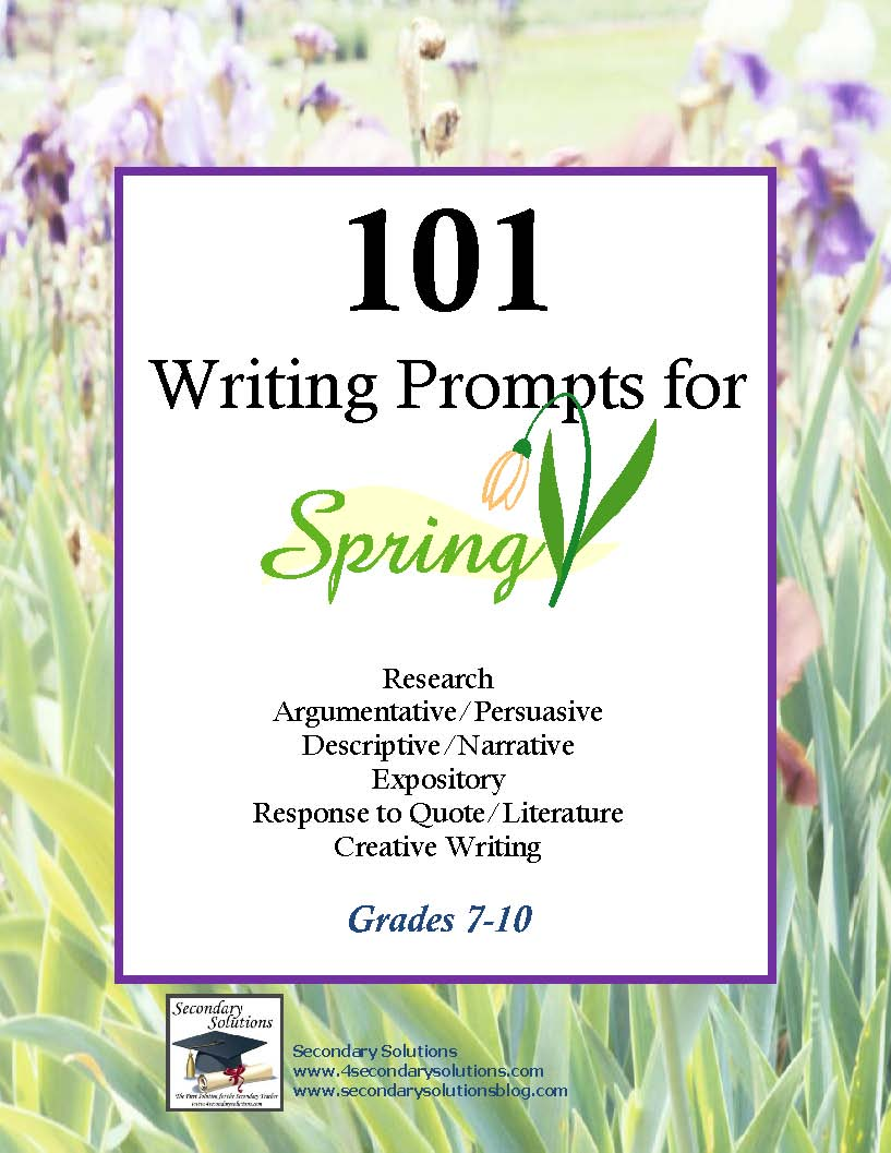 spring writing activities for 4th grade