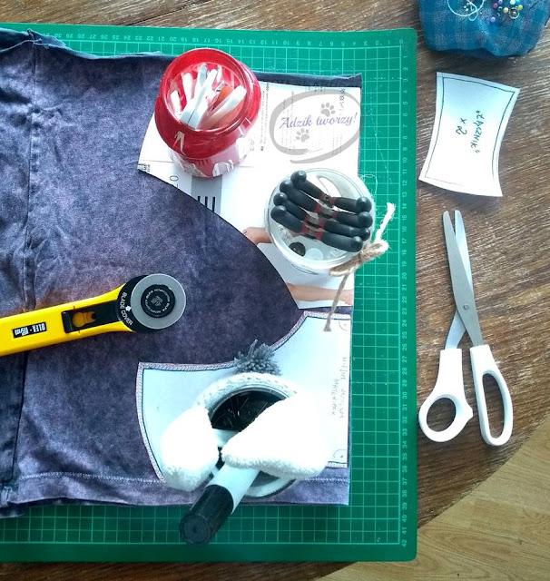 Majtki DIY szycie z t-shirtu - Adzik tworzy